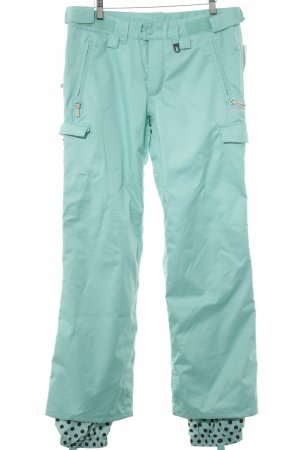 special blend Snow Pants black-turquoise spot pattern athletic style