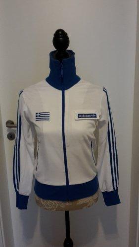 Adidas Originals Veste de sport blanc-bleu