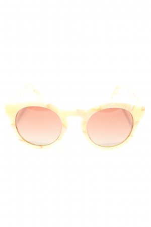 SPECTATOR runde Sonnenbrille blassgelb abstraktes Muster Casual-Look