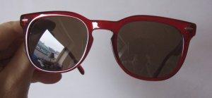 Spectre Memento Ruby Red / Tobacco, Sonnenbrille, NP 120,- , rot mit braunen Gläsern, hochwertig, Vintage Look, Retro, runde Form unisex, Originalkarton, Schachtel, Stoffsäckchen gleichzeitig Putztuch