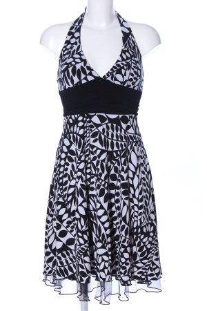 Speechless Neckholderkleid weiß-schwarz abstraktes Muster Elegant