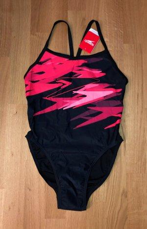 Speedo Badeanzug Gr. 40 schwarz-rot Neu m. Etikett