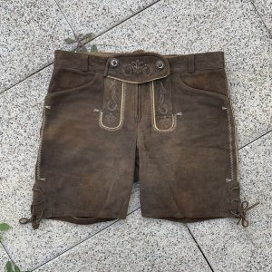 Spieht & Wensky Traditional Trousers brown-dark brown leather