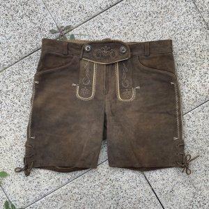 Spieht & Wensky Pantalon bavarois brun-brun foncé cuir