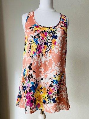 Spense Top Shirt Bluse Blumen Größe M gestreift schwarz weiß