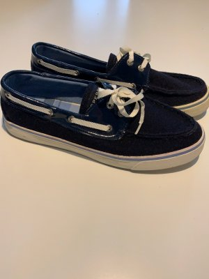 Sperry top-sider Mocassins donkerblauw-wit