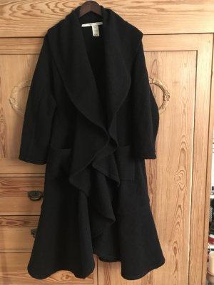 Abrigo de lana negro Lana