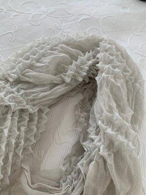 Écharpe en soie gris clair