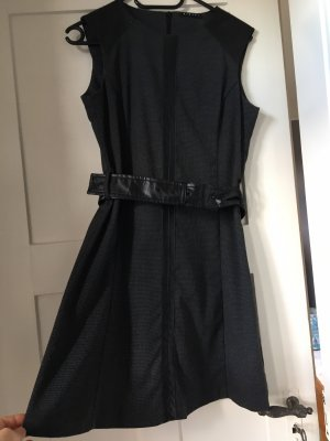 Sisley Sukienka o kroju litery A antracyt-czarny