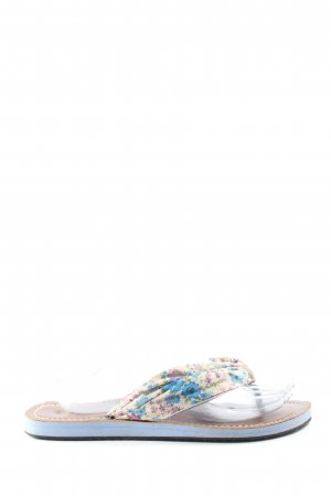 spicy Dianette Sandals blue-cream flower pattern casual look