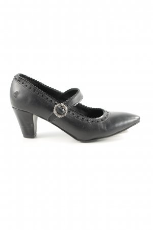 Spieht & Wensky Mary Jane pumps zwart zakelijke stijl