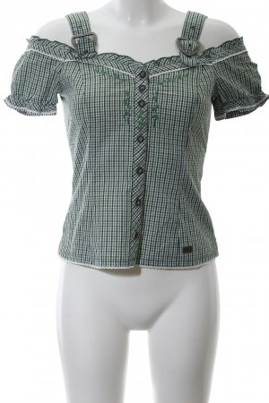 Spieht & Wensky Trachtenbluse Karomuster Casual-Look