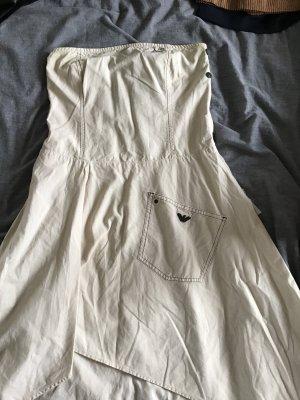 Armani Jeans Off-The-Shoulder Dress oatmeal