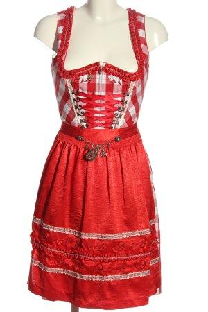 Spieth & Wensky Dirndl rot-weiß Karomuster Elegant
