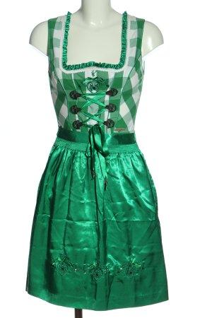 Spieth & Wensky Dirndl green-white check pattern classic style