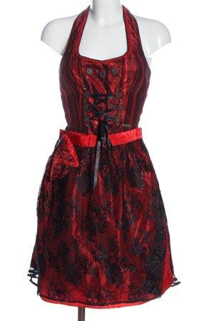 Spieth & Wensky Dirndl red-black striped pattern classic style