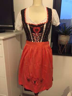 Spieht & Wensky Dirndl dark brown-orange