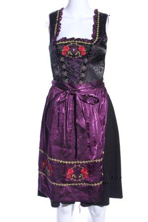 Spieth & Wensky Dirndl schwarz-lila klassischer Stil