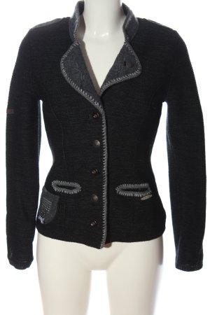 Spieth & Wensky Blazer in maglia nero-grigio chiaro stile casual