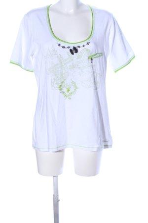 Spieth & Wensky T-Shirt weiß-grün Motivdruck Casual-Look