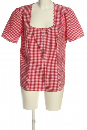 Spieth & Wensky Traditional Blouse white-red check pattern casual look