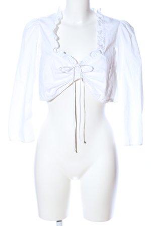 Spieth & Wensky Folkloristische blouse wit klassieke stijl