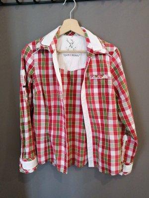 Spieht & Wensky Blusa tradizionale rosso