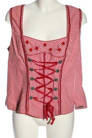 Spieth & Wensky Trachtenbluse rot-weiß Karomuster klassischer Stil