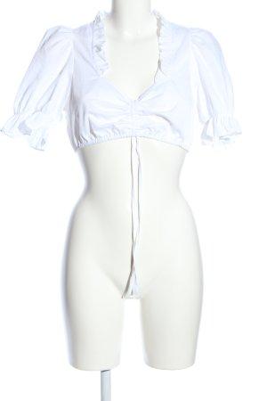 Spieth & Wensky Folkloristische blouse wit extravagante stijl