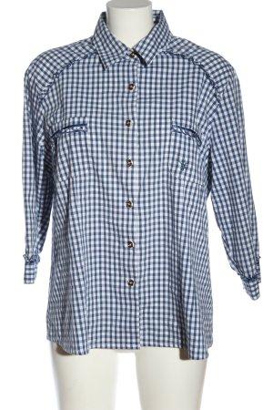 Spieth & Wensky Trachtenhemd blau-weiß Karomuster Business-Look