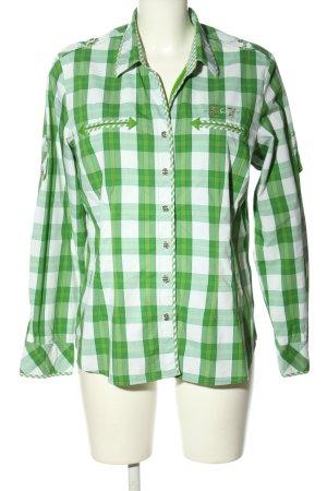 Spieth & Wensky Trachtenhemd grün-weiß Karomuster Casual-Look