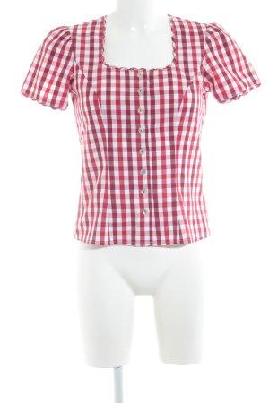 Spieth & Wensky Folkloristische hemd geruite print klassieke stijl