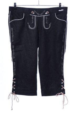 Spieth & Wensky Trachtenlederhose schwarz-weiß Elegant