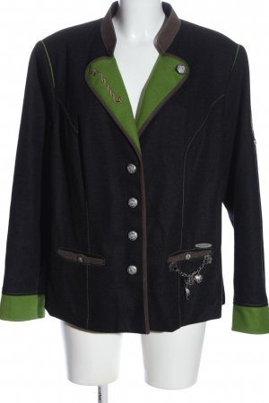 Spieth & Wensky Trachtenjacke schwarz-grün klassischer Stil