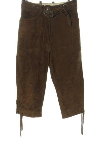 Spieth & Wensky Pantalone in pelle tradizionale marrone stile classico
