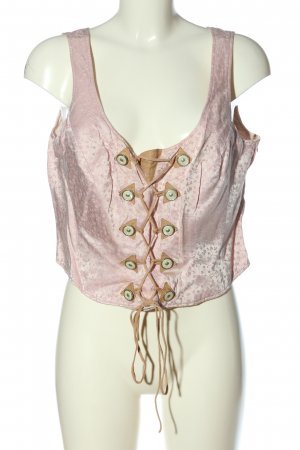 Spieth & Wensky Traditional Camisole pink allover print wet-look