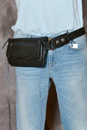 SPIKES & SPARROW Beltbag Gürteltasche Bauchtasche Hüfttasche Bumbag unisex Leder schwarz