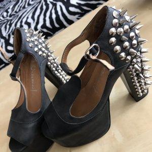 Spiky high heels platform shoes