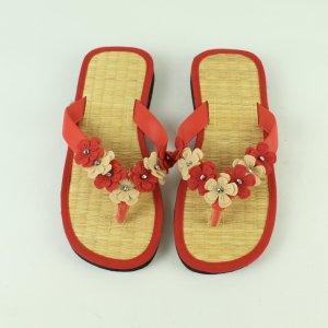 Spinrad Sandalo toe-post rosso mattone-sabbia