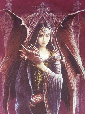 Spiral Top Königin (Elfe) mit Drache 36