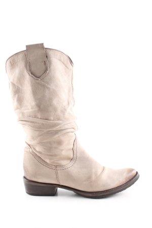 Spiral Stivale western bianco sporco stile casual