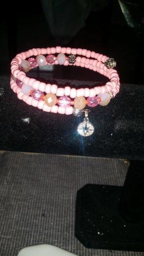 Braccialetto color oro rosa-rosa
