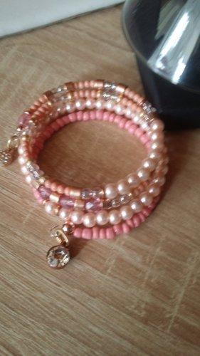Braccialetto sottile rosa pallido-rosa chiaro