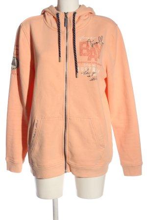 Spirit Sudadera con capucha naranja claro letras impresas look casual