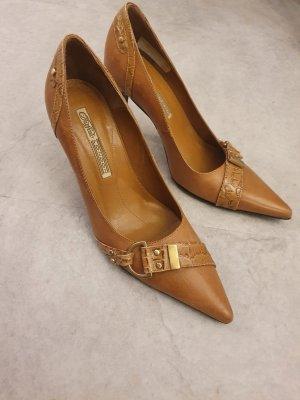 Buffalo Zapatos de punta marrón claro