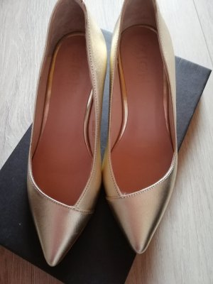 Spitz-Pumps Gold