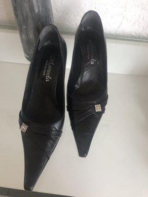 Made in Italy Spitse pumps zwart-zilver