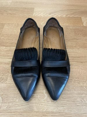 Pomme d'Or Ballerina's met kant zwart