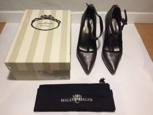by Malene Birger Pointed Toe Pumps anthracite-silver-colored