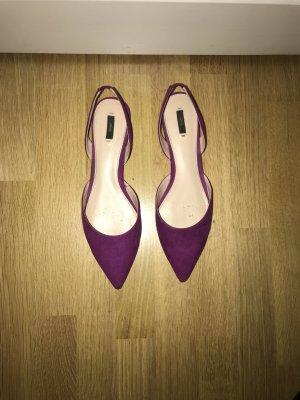 Spitze flache Schuhe